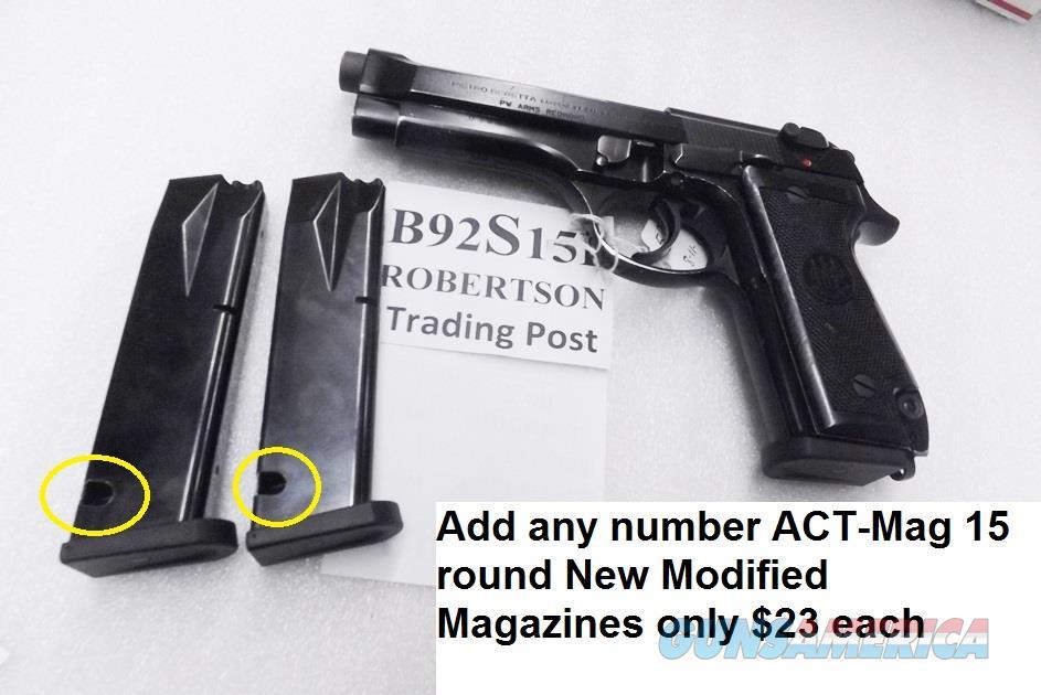 Beretta 9mm model 92S Italy Military Police Italian Carabinieri JS92F300M type / ancestor c1978 w1 15 round Magazine Oxide Finish Slide 7GOB   Guns > Pistols > Beretta Pistols > Model 92 Series