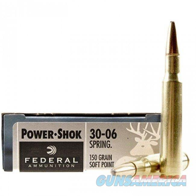Ammo: .30-06 Federal Power Shok 150 grain Soft Point 3006 Springfield SP  3006A Ammunition Cartridges  Non-Guns > Ammunition
