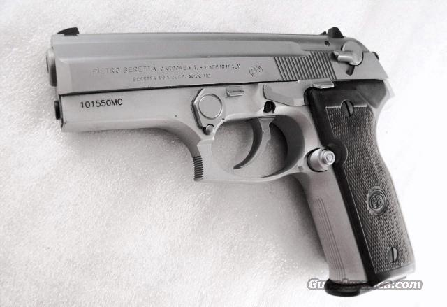 Beretta 9mm model 8000F Inox Stainless New in Box 92FS Family Import Stamped 2 Magazines Walnut Grips Limited Production Cougar 2004	  Guns > Pistols > Beretta Pistols > Model 92 Series