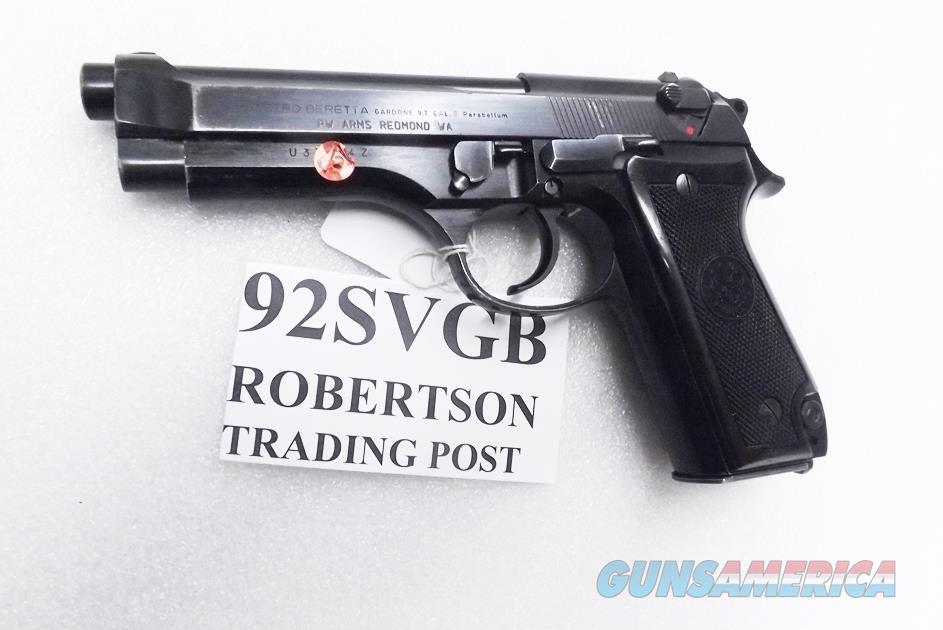 Beretta 9mm model 92S Italian Military Police VG JS92F300M type / ancestor c1978 w1 15 round Magazine Factory Gloss Anodized Frame, Blue Barrel & Slide VGB  Guns > Pistols > Beretta Pistols > Model 92 Series