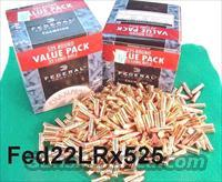 Ammo: .22 LR Federal 525 Round Boxes 22 Long Rifle Copper Coated Hollow Point Champion 745 Ammunition Cartridges  Non-Guns > Ammunition