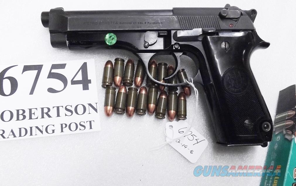 Beretta 9mm model 92S Italy Military Police Italian Carabinieri JS92F300M type / ancestor c1978 16 Round 1 Pre-Ban Magazine Gloss Anodized Frame Factory Oxide Barrel Brunitron Slide Good 7GM  Guns > Pistols > Beretta Pistols > Model 92 Series