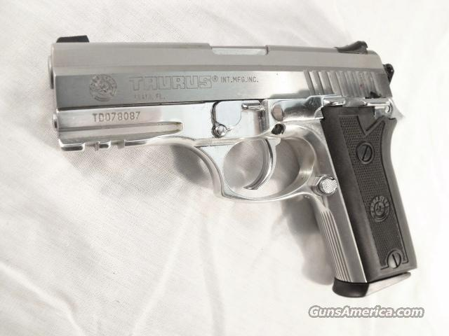 Taurus 9mm PT911 Stainless Lightweight Beretta Vertec type Rail 2 each 15 Round Magazines   Guns > Pistols > Taurus Pistols/Revolvers > Pistols > Steel Frame
