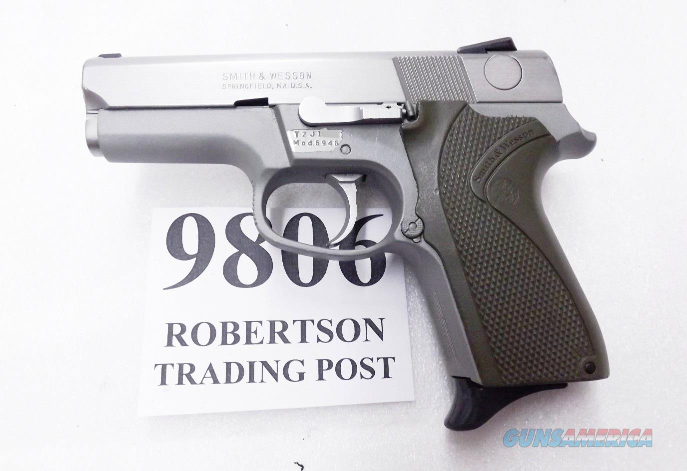 S&W 9mm 6946 Stainless Lightweight 1992 Production Retouched / Refin Satin Trigger Hammer VG 13 shot 1 Magazine 108209  Guns > Pistols > Smith & Wesson Pistols - Autos > Alloy Frame