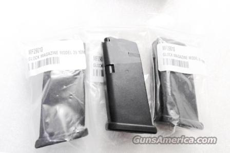 Glock model 29 Sub Compact Factory 10 round Magazine New MF29010 Buy 3 ships Free!   Non-Guns > Magazines & Clips > Pistol Magazines > Glock