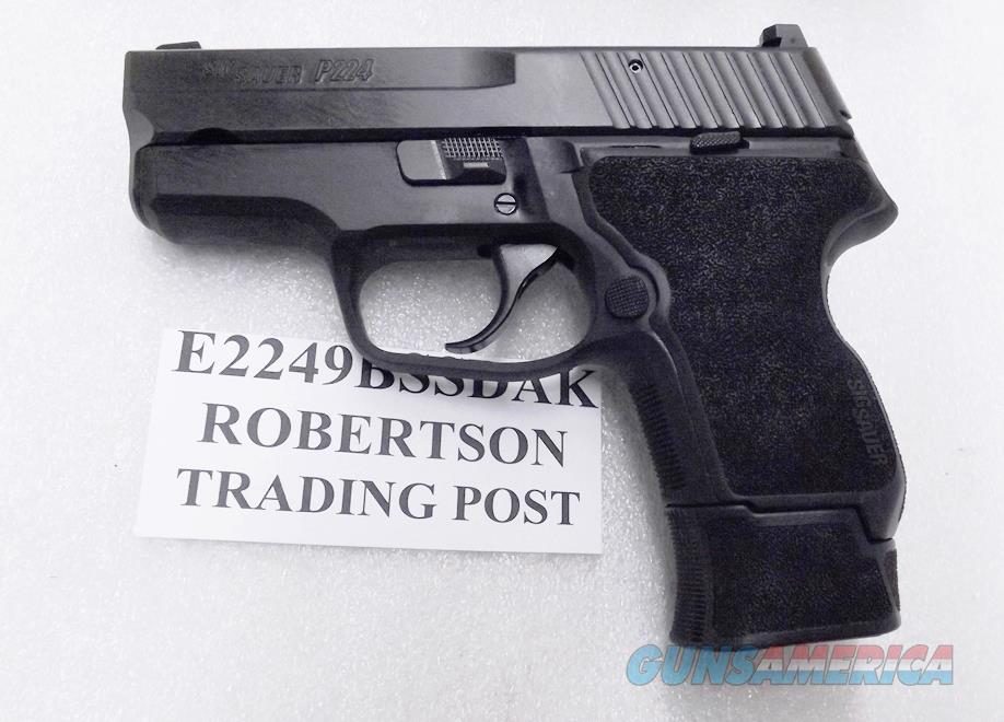 Sig Sauer 9mm model P224 Double Action Only E249BSSDAK Siglite Night Sights Full Time DAO Nitron Finish 2 Magazines 16 shot & 13 shot Flush Fit  Guns > Pistols > Sig - Sauer/Sigarms Pistols > P229