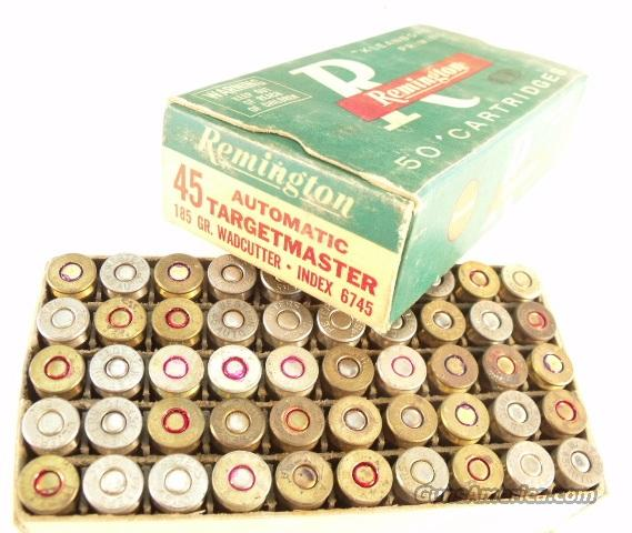 Ammo: Buford Pusser Colleague .45 ACP Nickel Vintage 1960s Box   Non-Guns > Collectible Cartridges