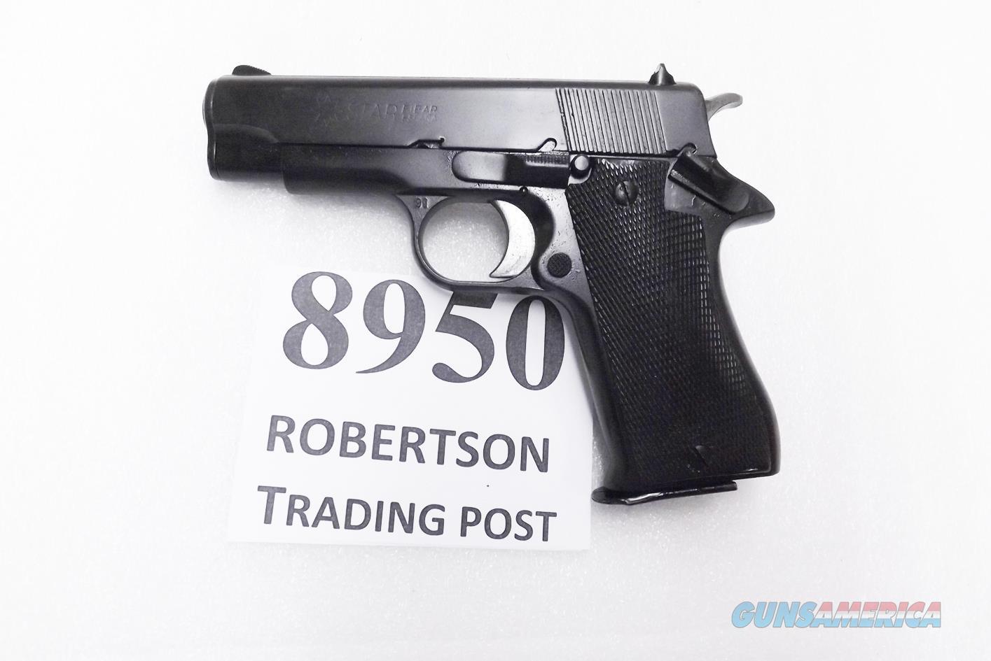 Star Spain 9mm Model BM 9 Compact Spanish Guardia 1991 Dura Coat Refinish VG-Exc  3 3/4 inch PD Size Colt Defender Ancestor Steel 9 Shot BM9 BM-9 Spain  Guns > Pistols > Star Pistols
