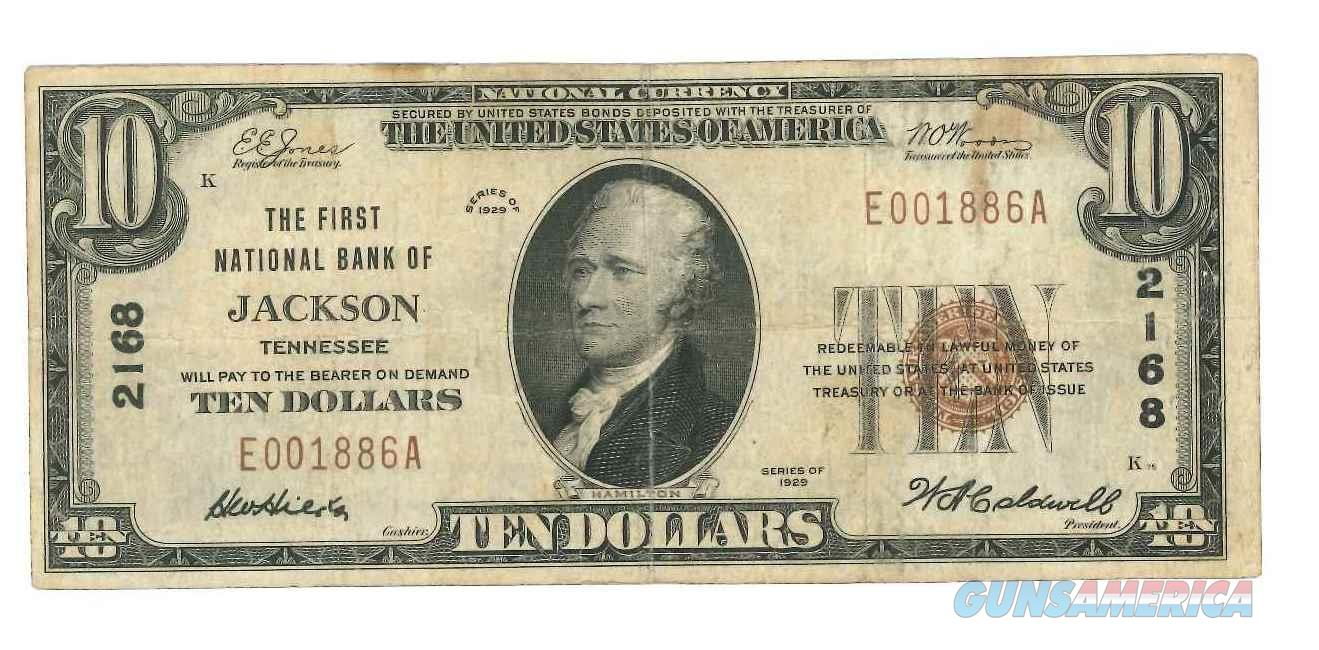 United States National Currency 1929 $10 Note First National Bank of Jackson Tennessee Very Fine Condition Our USN008 Buy 3 Items and Shipping is Free Lower 48  Non-Guns > Coins