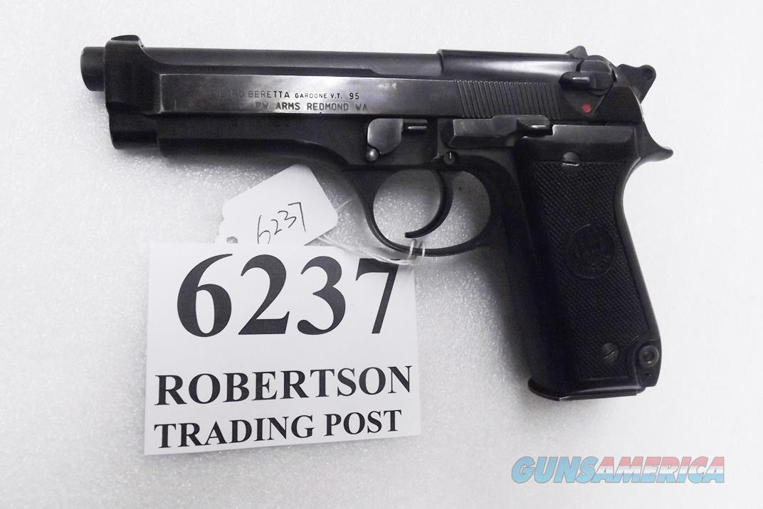Beretta 9mm model 92S Italian MPs JS92F300M type / ancestor c1978 VG+ Factory Brunitron Frame, Blue Steel Slide & Black Oxide Barrel w1 15 round Magazine  Guns > Pistols > Beretta Pistols > Model 92 Series