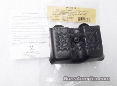 Safariland model 079 Open Top Double Mag Case 9mm .40 S&W Glock Sig HK S&W Concealment Friction & Snap Type 79-83-8   Non-Guns > Holsters and Gunleather > Police Belts/Holsters
