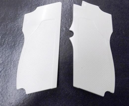 Smith & Wesson model 469 669 Grips Hard Imitation Ivory White Polymer New Replacement S&W 9mm Compacts GR4669W   Non-Guns > Gun Parts > Grips > Smith & Wesson