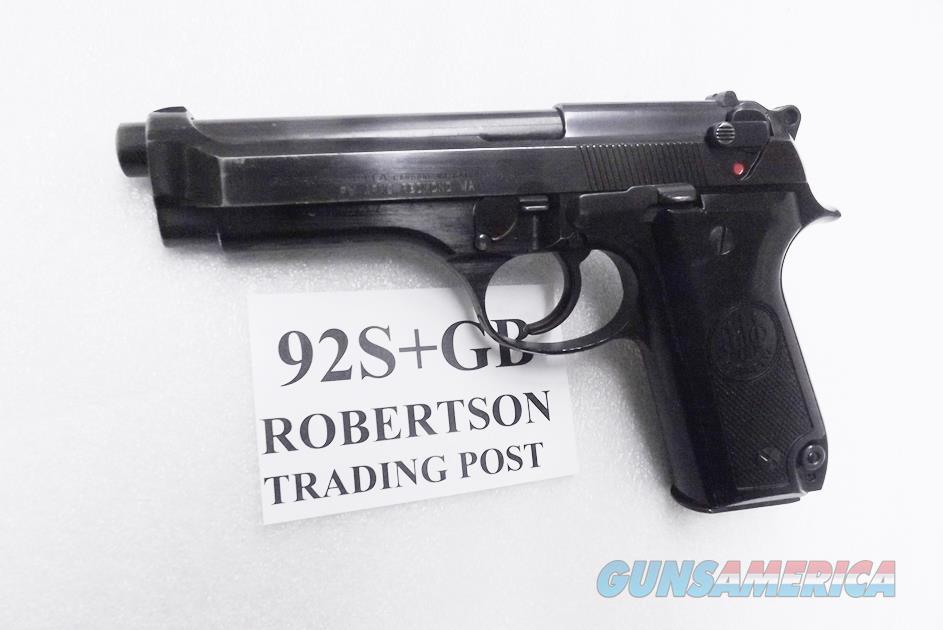 Beretta 9mm model 92S Italian Military Police VG+ JS92F300M type / ancestor c1978 w1 15 round Magazine Factory Gloss Anodized Frame, Blue Barrel & Slide +GB  Guns > Pistols > Beretta Pistols > Model 92 Series
