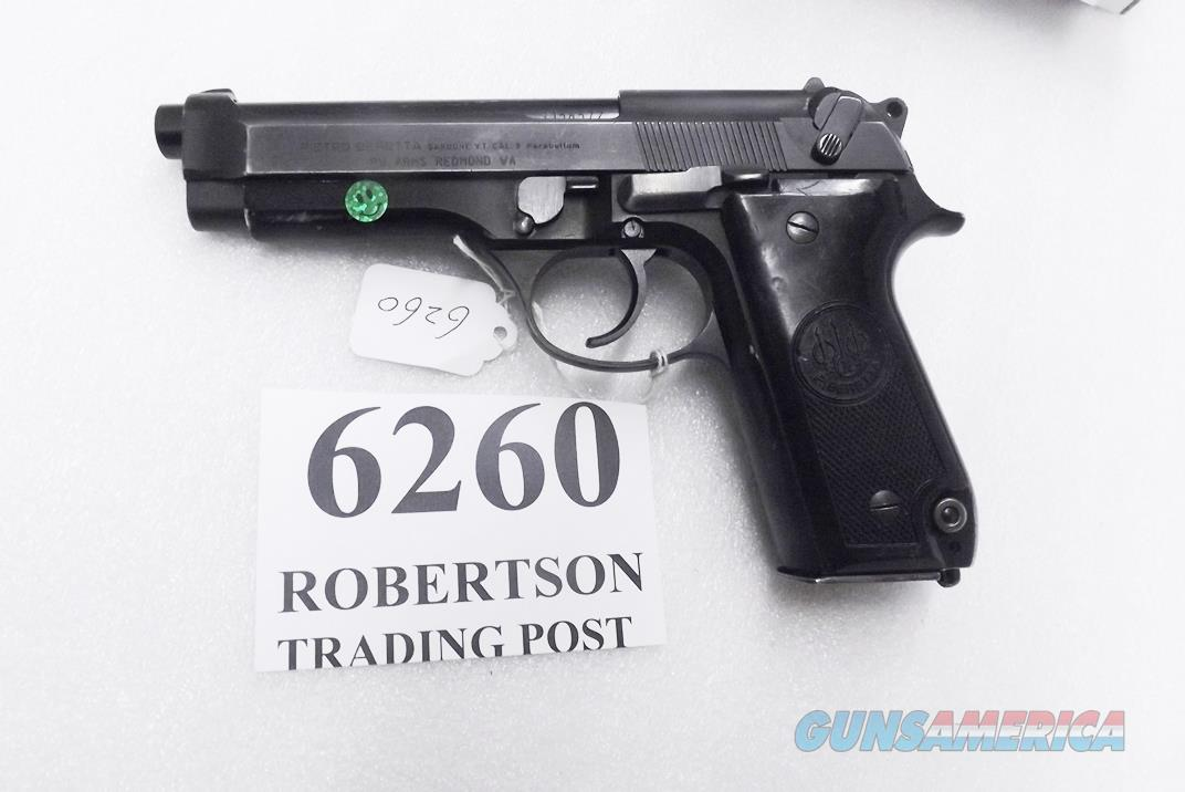 Beretta 9mm model 92S Italy Military Police Italian Carabinieri VG JS92F300M type / ancestor c1978 w1 15 round Magazine Factory Brunitron Frame Oxide Slide Blue Chrome Lined Barrel VROBC  Guns > Pistols > Beretta Pistols > Model 92 Series