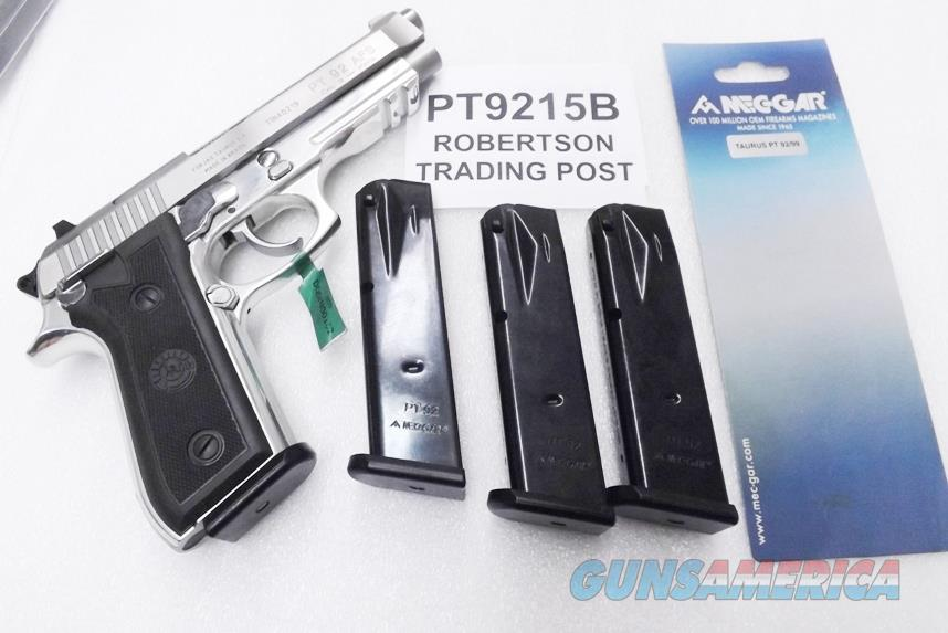Taurus PT92 PT99 9mm Mec-Gar 15 round Magazines Blue Steel NIB 92C can be fitted for PT911 PT915 PT917 PT9215B Buy 3 Ships Free   Non-Guns > Magazines & Clips > Pistol Magazines > Other