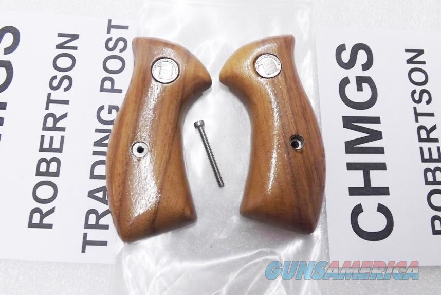 Charter Arms Factory Revolver Grips Small Magna Size Glossy Finish Brazilian Goncalo Alves Hardwood Undercover Bulldog Off Duty Undercoverette Unissued 1990s Ansonia Production   Non-Guns > Gun Parts > Grips > Other
