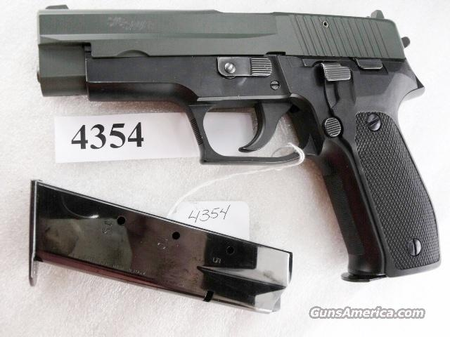 Sig 9mm P-226 Swiss Police Black Ice OD Green Teflon Slide P226 Sig Sauer all German with two Mec-Gar Magazines CA MA OK 1992 	  Guns > Pistols > Sig - Sauer/Sigarms Pistols > P226