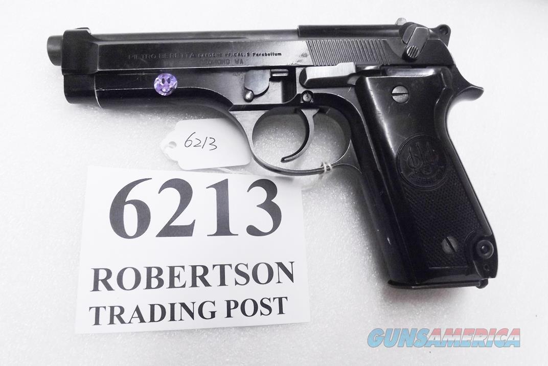 Beretta 9mm model 92S Italian MPs JS92F300M type / ancestor c1978 VG  Factory Brunitron Frame & Slide, Black Oxide Barrel, w1 15 round Magazine VRRO  Guns > Pistols > Beretta Pistols > Model 92 Series