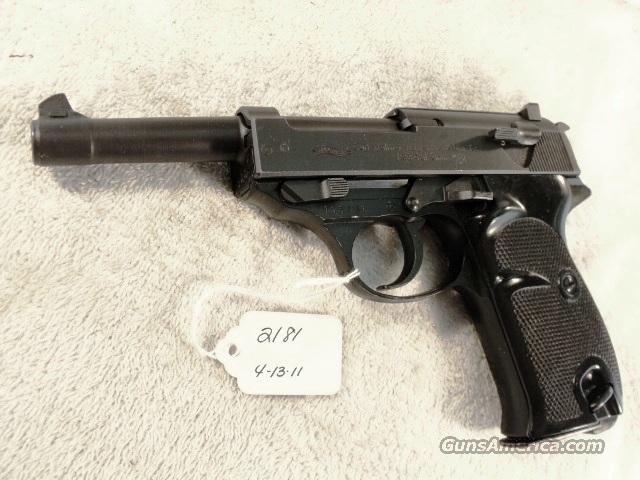 Walther 9mm P-38 Lightweight Parkerized VG 1960 P38 Federal German Police Bundespolizei C&R OK CA OK  Guns > Pistols > Walther Pistols > Post WWII > P38