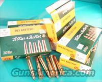 Ammo: .303 British 150 grain Soft Point 100 Round Lot of 5 Boxes S&B Czech 303 British Lee Enfield Ammunition Cartridges  Ammunition