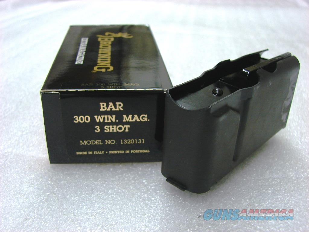 Browning BAR Factory 3 Shot Magazine for .300 Winchester Magnum caliber Old Model Pre 1994 B.A.R. No Mk II Browning Automatic Rifle Pre-Mark II Long Action 300 Win Mag 1320131  Non-Guns > Magazines & Clips > Rifle Magazines > Other