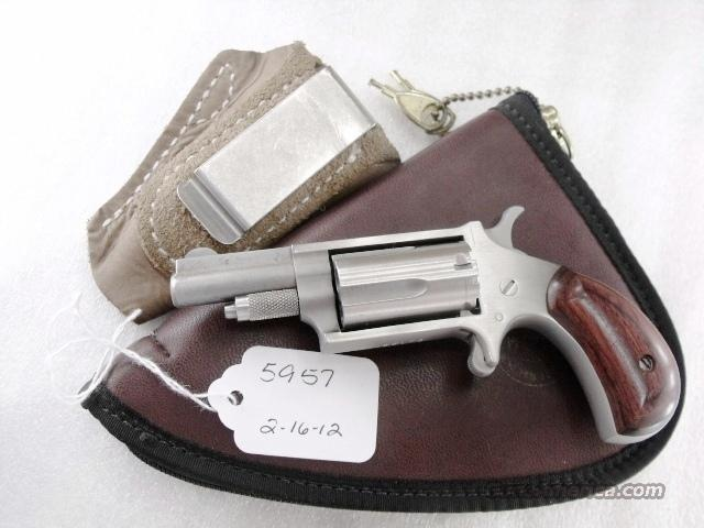 North American Arms .22 Magnum 1 5/8 inch Stainless Excellent ca 1995  Guns > Pistols > Derringer Modern