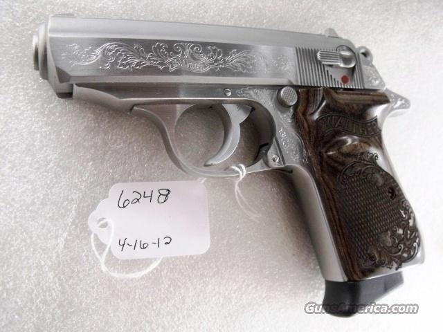 Walther .380 PPK/S-1 Factory Engraved 2 Magazines PPKS Stainless 380 Automatic SKU 650782 Variant Near Mint in Box	  Guns > Pistols > Smith & Wesson Pistols - Autos > Steel Frame