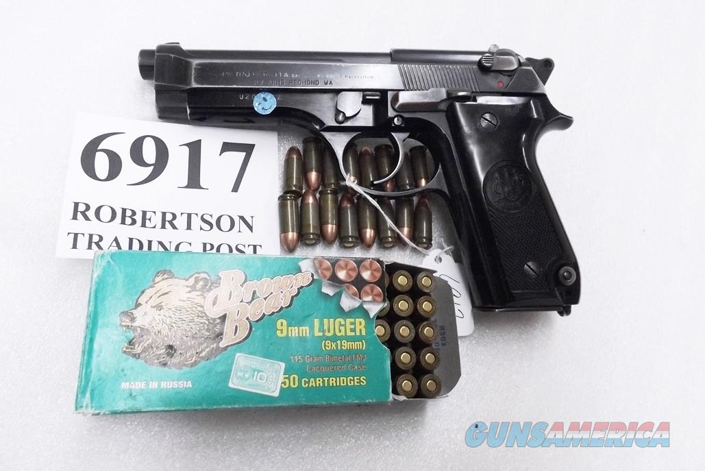 Beretta 9mm model 92S Italy Military Police Italian Cearabinieri VG 1980 Marshal Silvio Trimarchi Issue JS92F300M type / ancestor c1978 with 15 Round with 1 Pr-Ban Magazine  Guns > Pistols > Beretta Pistols > Model 92 Series
