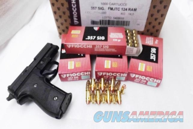 Ammo: 357 Sig  124 grain FMC Fiocchi 357 Sig Sauer Caliber Full Metal Case Jacket Ammunition Cartridges fc357SIGAP   Non-Guns > Ammunition