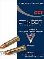 Ammo: Stinger .22 LR CCI 32 gr 1640 fps JHP 500 round Brick 10 Box Lot   Non-Guns > Ammunition