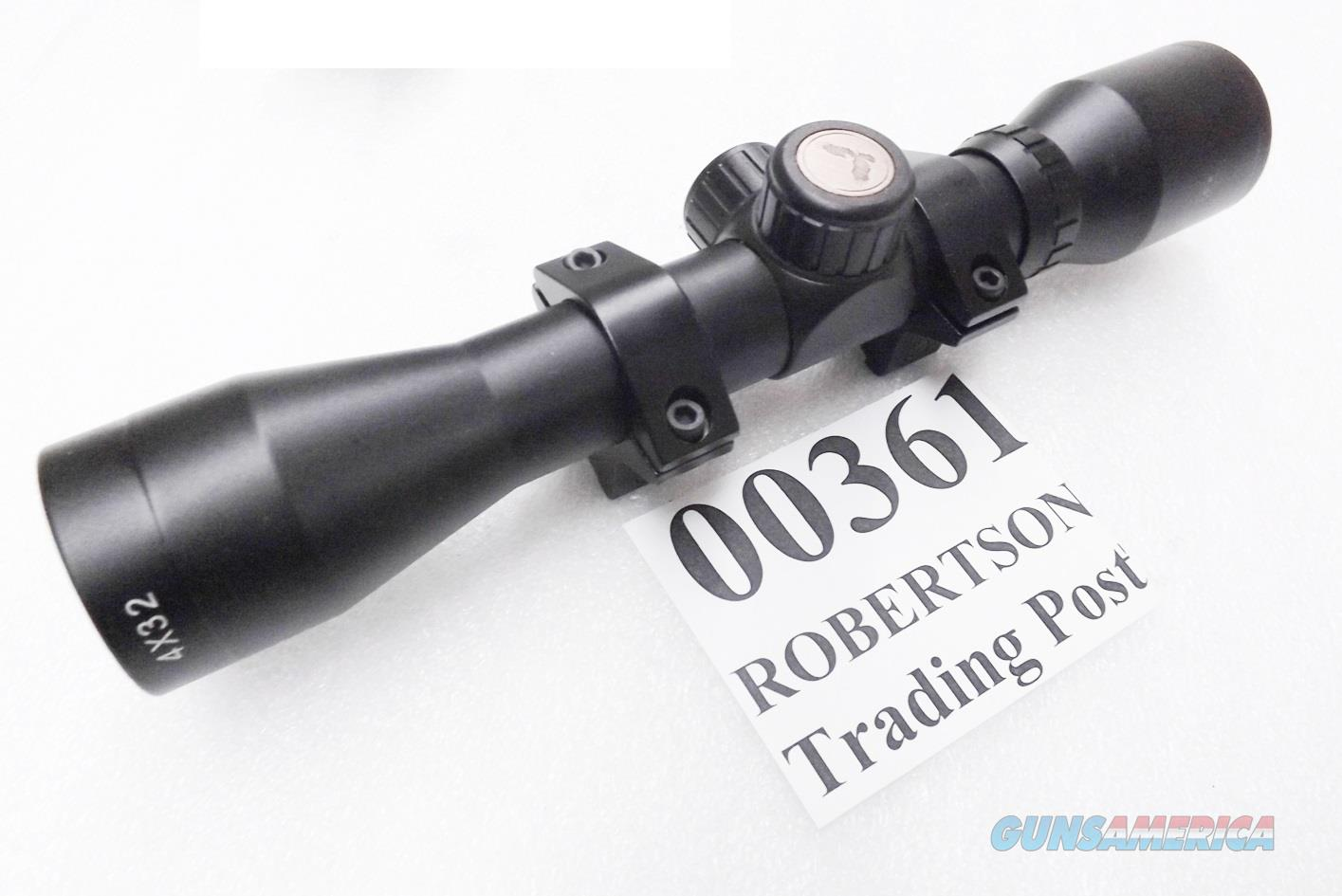 Field & Stream Delta OEM 4x32 Rifle Shotgun Scope 50 yard parallax New with Lens Covers, 1 inch tube with free set of 5/8 Grooved Receiver .22 Rings HEH00361 variant of HEH01215 $3 ship, 3 ship Free!  Non-Guns > Scopes/Mounts/Rings & Optics > Rifle Scopes > Fixed Focal Length