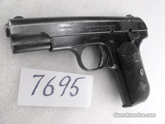 Colt .32 ACP model of 1903 Pocket Hammerless 1913 Manufacture Very Good TN WWII Army Physician's Estate Pistol   Guns > Pistols > Colt Automatic Pistols (.25, .32, & .380 cal)