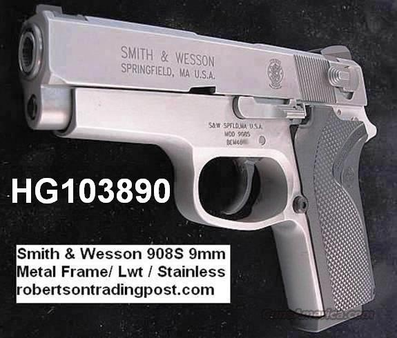 S&W 9mm 908S Compact Sts Lwt Economy 3913 NIB 2 Mags  Guns > Pistols > Smith & Wesson Pistols - Autos > Alloy Frame