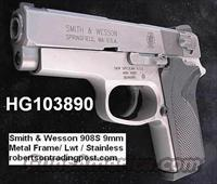 S&W 9mm 908S Compact Sts Lwt Economy 3913 NIB 2 Mags  Smith & Wesson Pistols - Autos > Alloy Frame