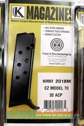 CZ50 CZ70 .32 ACP Triple K 8 round Magazine Ported Blue Steel 2018M Czech 32 Automatic Pistols Buy 3 and Shipping is Free!   Non-Guns > Magazines & Clips > Pistol Magazines > Other