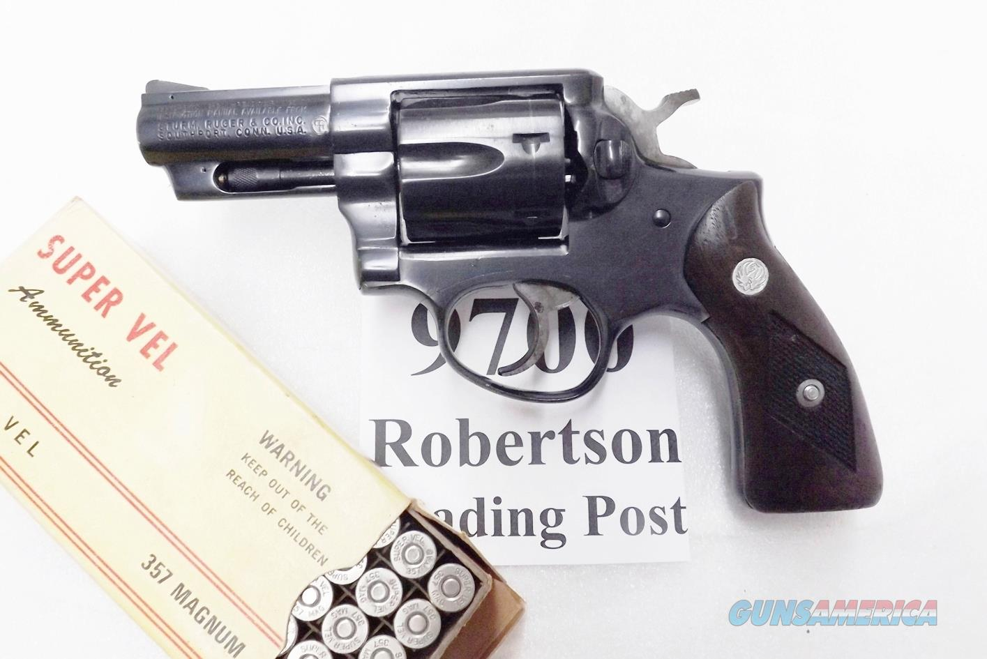 Ruger .357 Magnum Speed Six 2 3/4 inch Blued Steel 1979 production VG KGPF331 GP100 Ancestor 1712 type GS32   Guns > Pistols > Ruger Double Action Revolver > Security Six Type