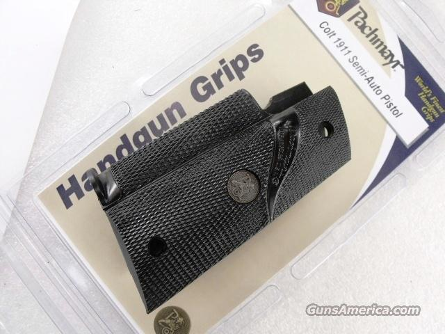 Grips Colt Gov't 1911 Pachmayr Gripper Finger Groove Combat GRGM45G   Non-Guns > Gun Parts > Grips > Smith & Wesson
