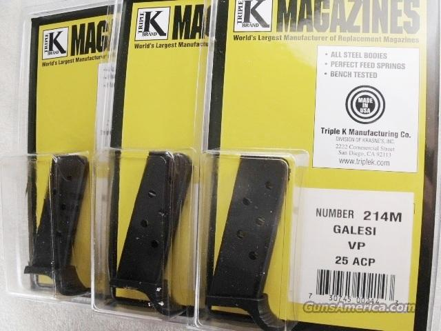 Magazine Galesi Vest Pocket Model VP .25 ACP NIB Triple K 25 Automatic Clip   Non-Guns > Magazines & Clips > Pistol Magazines > Other
