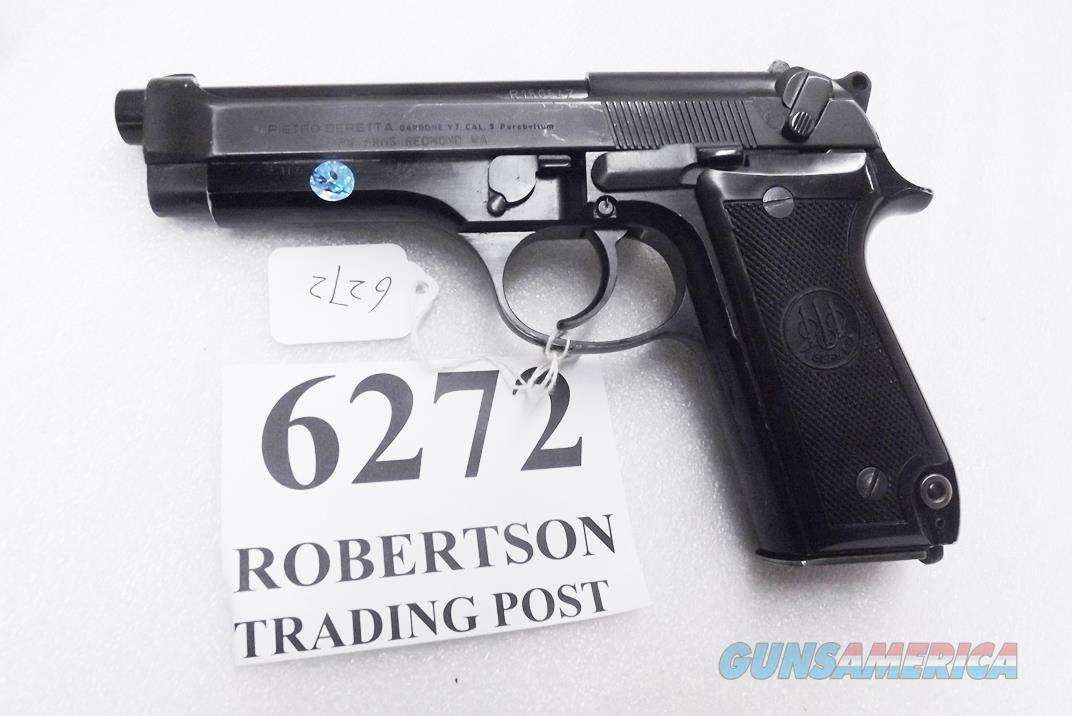 Beretta 9mm model 92S Italy Military Police Italian Carabinieri VG JS92F300M type / ancestor c1978 w1 15 round Magazine Factory Gloss Anodized Frame, Oxide Finish Slide & Blue Barrel VGOB  Guns > Pistols > Beretta Pistols > Model 92 Series
