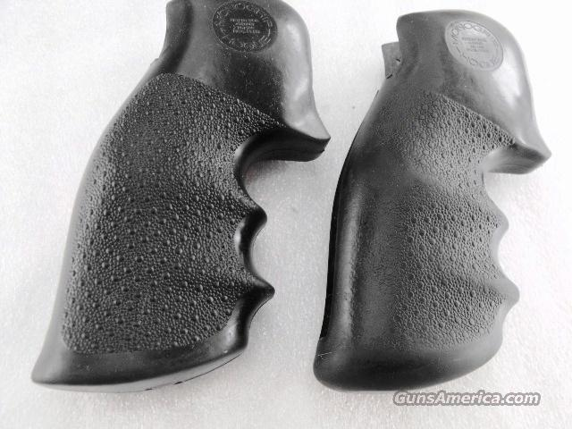 Grips S&W K or L Frame Square Butt Revolvers Hogue Monogrip Combat Finger Groove Very Good to Excellent Condition, Smith & Wesson Models 10 13 14 15 17 18 19 64 65 66 67 581 586 681 686  Non-Guns > Gunstocks, Grips & Wood