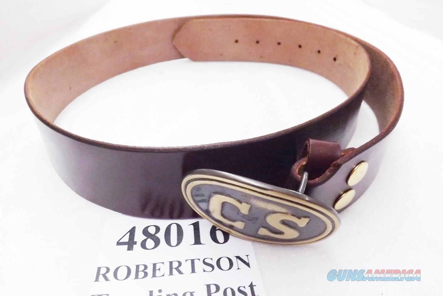 Triple K Leather Confederate Replica Belt Brown Walnut Oil Finish with Army of Northern Virginia CS Egg type Brass Tone Belt Buckle Size Large New Style 52 inch by 2 inch  Non-Guns > Holsters and Gunleather > Military