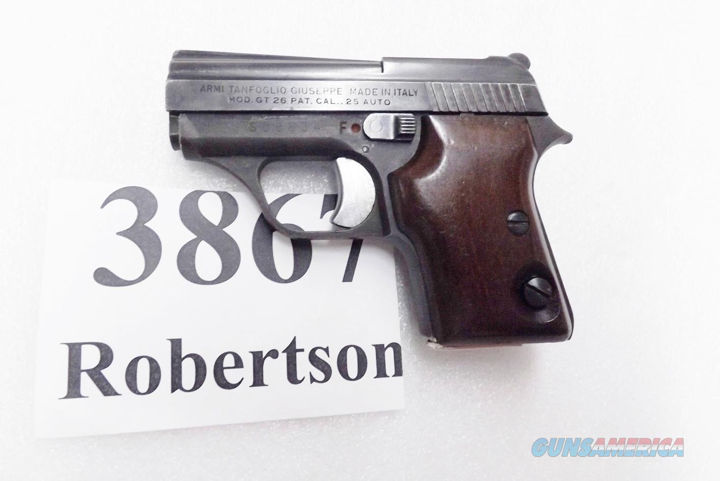 Excam .25 ACP GT27B Titan 25 Automatic 1980s Production VG 7 Shot Wood Grips  Guns > Pistols > Excel Arms Pistols