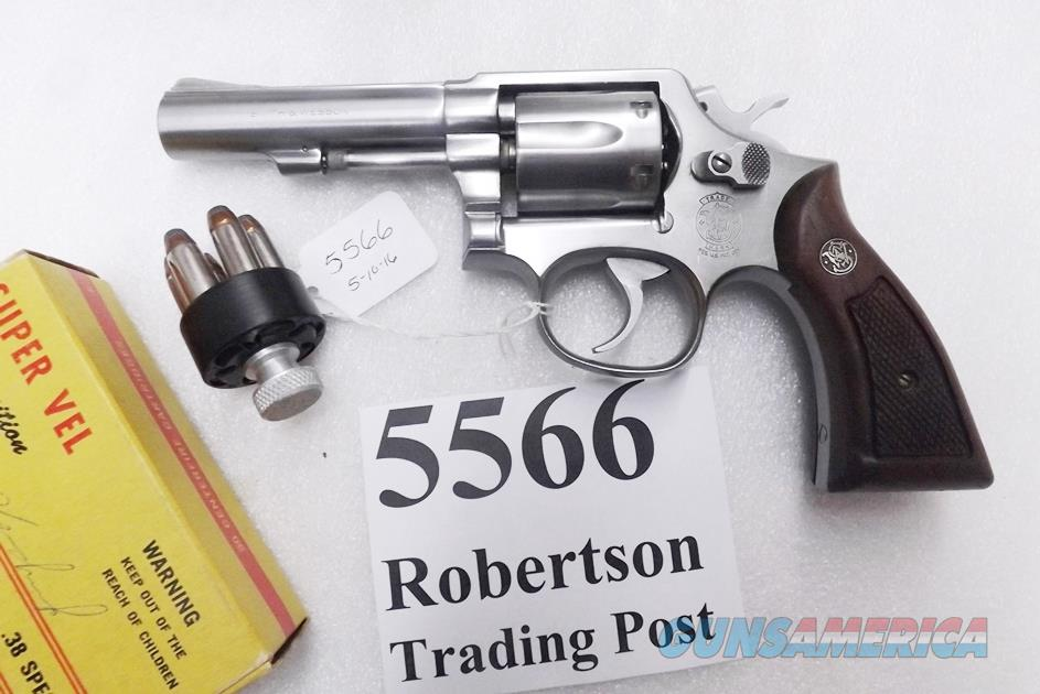 Smith & Wesson .38 Special model 64 No Suffix = Misstamped 64-3 Stainless 4 inch Heavy Barrel Satin Trigger & Hammer 1987  issue VA Dept of Corrections K Square Butt 38 Spl +P Mod. 64 S&W 162506 ancestor	  Guns > Pistols > Smith & Wesson Revolvers > Full Frame Revolver