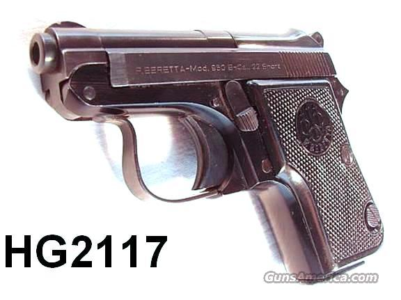 Beretta 950B .22 Short Exc 1958 Mfg  Guns > Pistols > Beretta Pistols > Small Caliber Tip Out