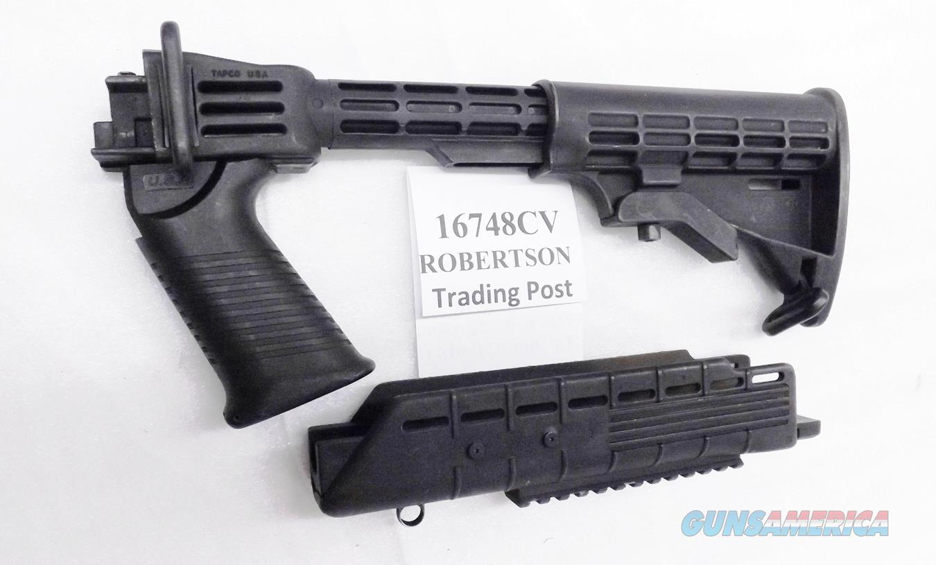 Tapco 16748 Adjustable Stock & Picatinny Railed Forend fits Saiga Rifles Very Good Condition $3 Ship L48 Civilian Buyers should consult US Code Title 18 Section 922 before installing   Non-Guns > Gun Parts > Stocks > Polymer