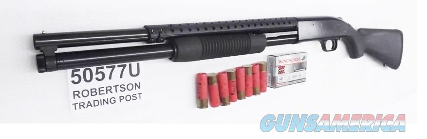 Mossberg 12 gauge model 500 Tactical 8 Shot Corn Cob Forend Trench Gun type Heat Shield Blue 3 inch 20 in Cylinder Bore Exc Factory Demo 50577 Tactical Pump Riot Shotgun  Guns > Shotguns > Mossberg Shotguns > Pump > Tactical