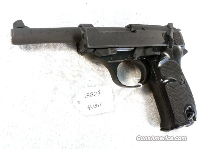 Walther 9mm P-38 Lightweight Parkerized VG 1962 P38 Federal German Police Bundespolizei   Guns > Pistols > Walther Pistols > Post WWII > P38