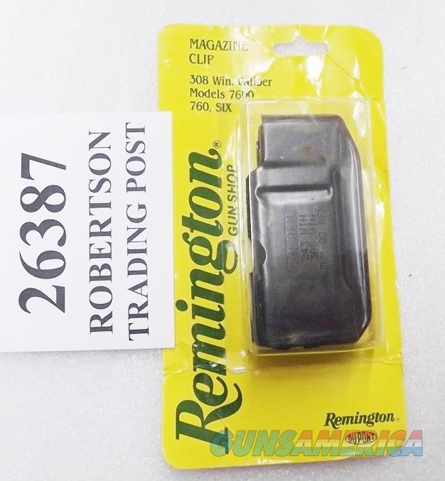 Remington 742 760 Factory 4 Shot Magazine .243 6mm .308 7mm08 7400 Semi Auto 7600 Pump Models Four Six 750 Woodsmaster Game Master New Blue Steel Ilion Production 243 6 mm 308 7mm 08 Buy 3 Ships Free!   Non-Guns > Magazines & Clips > Rifle Magazines > Other