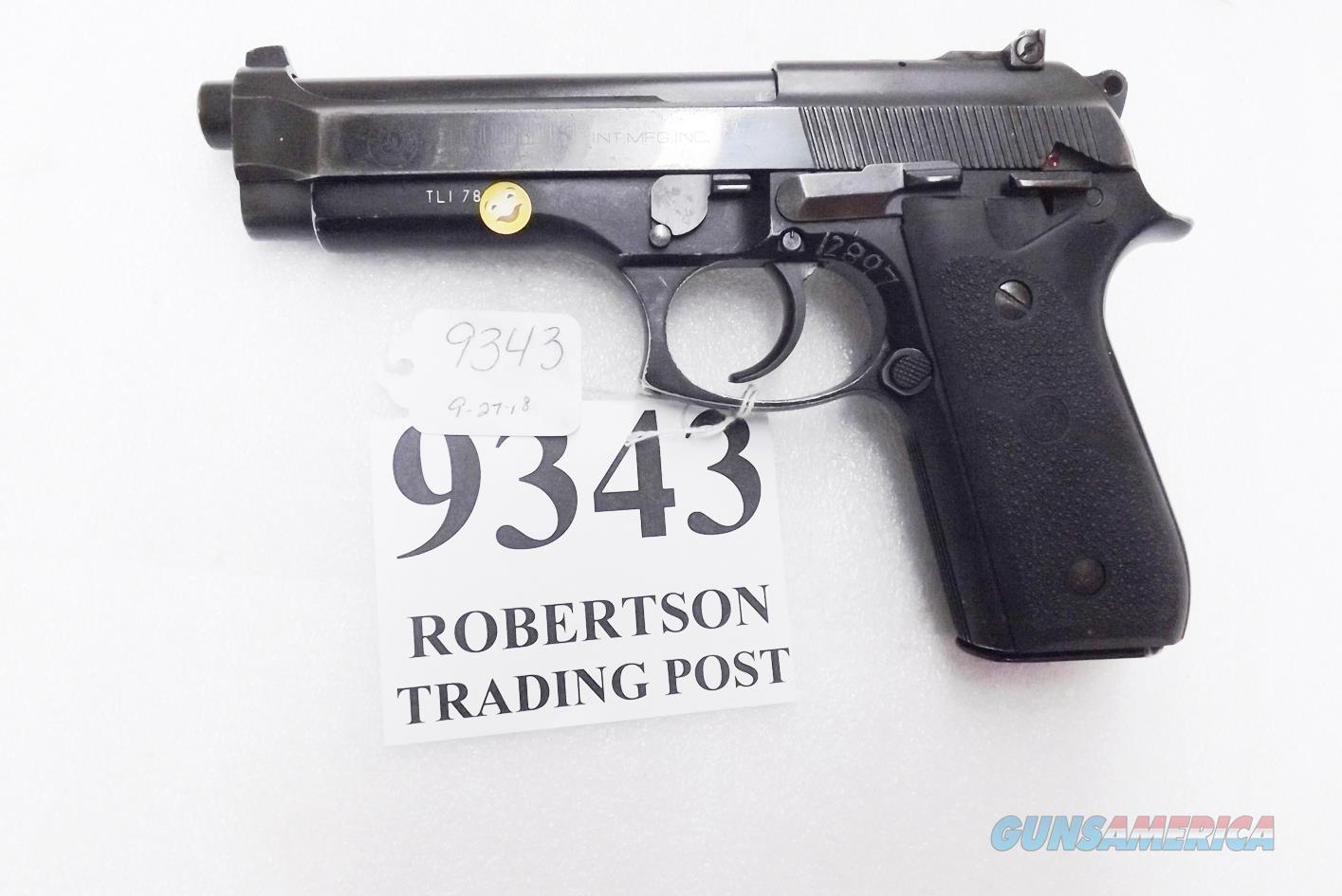 Taurus 9mm PT99 AF Blue Adjustable Sights Good Condition Hogue Grips 1993 Caribbean LE 1 Magazine  Guns > Pistols > Taurus Pistols > Semi Auto Pistols > Steel Frame