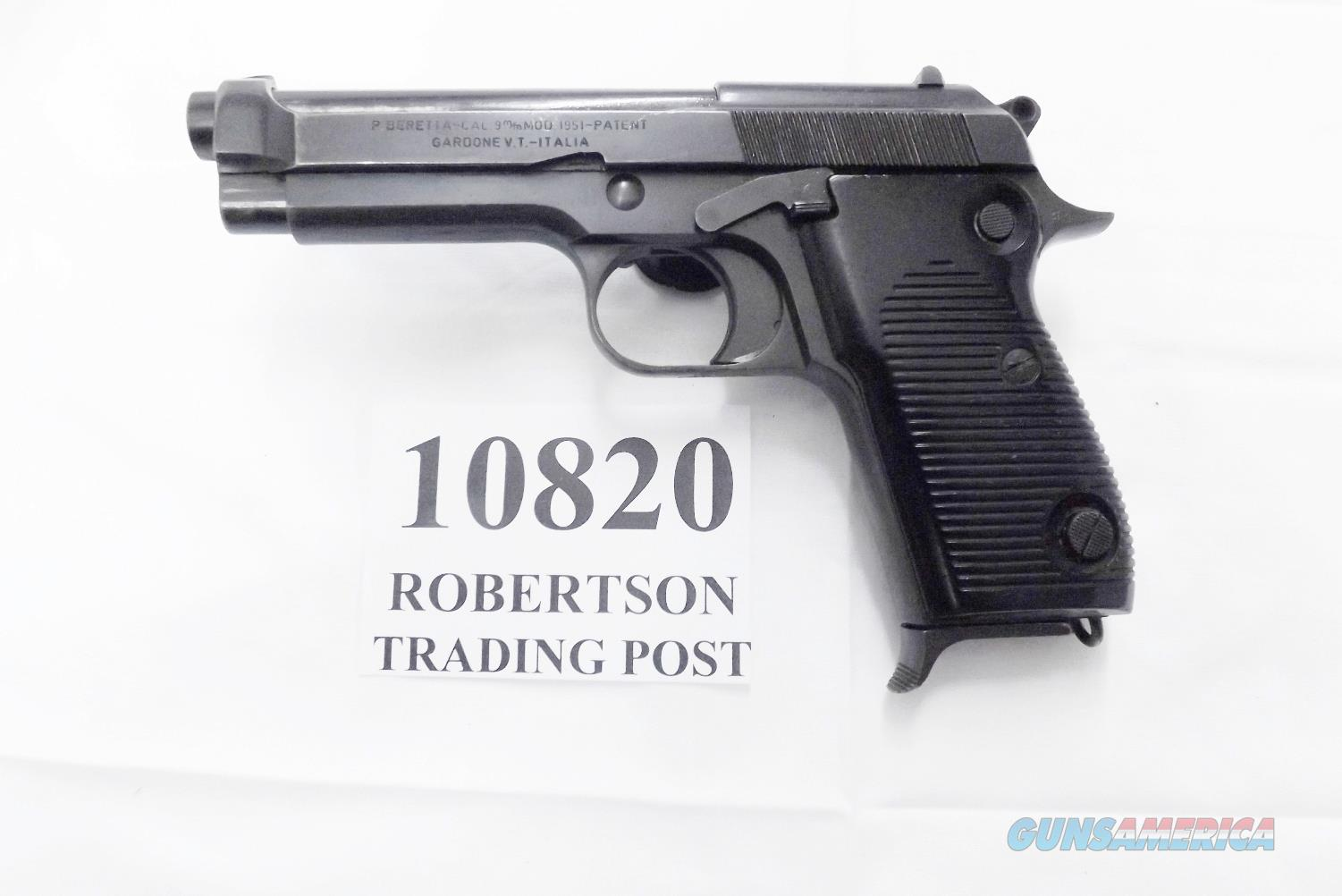 Beretta 9mm M1951 9 Shot All Steel 1964 ProductionItalian  Carabinieri Good Condition 1 Magazine C&R CA OK with Extra Magazine Special Offer   Guns > Pistols > Beretta Pistols > Rare & Collectible